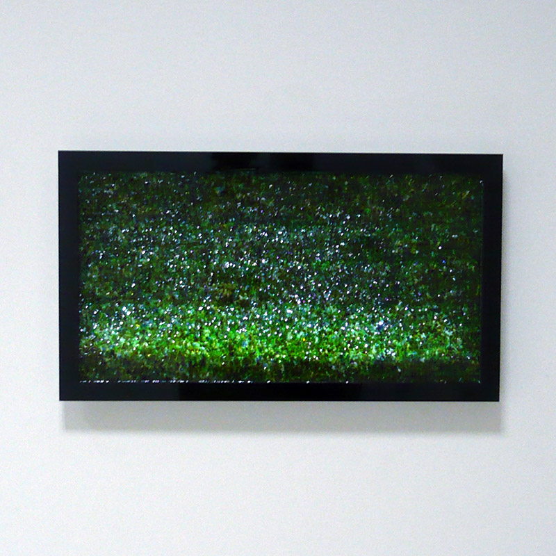 Photo of a fake LCD TV hung on a wall